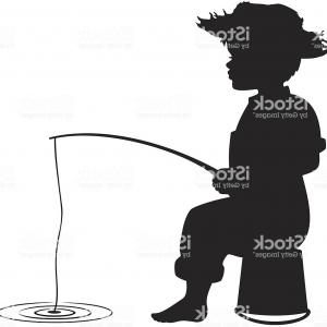 Little Boy Silhouette Vector: Stock Photo Little Boy Riding Bicycle Silhouette And Sketch Illustration Vector