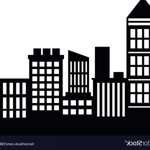 Architecture Vector: Geometric Black And White Background Architecture Vector