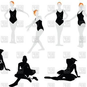 Ballet Dancer Vector: Silhouettes Of Ballet Dancers Vector Clipart
