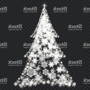 Vector Silver Christmas: Silver Christmas Tree On Transparent Background Gm
