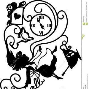 Mad Hatter Silhoutte Vector: Simple Black And White Mad Hatters Hat Vector