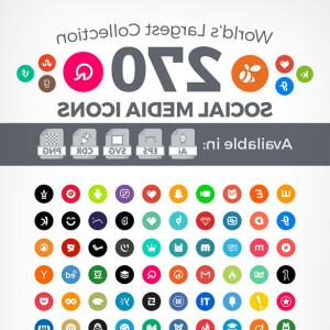 Social Media Logos Vector Round Round: Simple Circleround Social Media Icons In Vector Ai Eps Cdr Svg Png Format