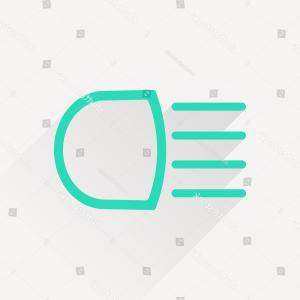 Headlight Vector Png: Simple Headlight High Beam Symbol Vector Hmi