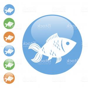 Vector Fish Fin: Simple Round Flat Vector Fish Icon Gm