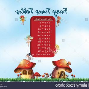 Mom Fairy Vector: Six Times Tables Fairy Theme Illustration Image