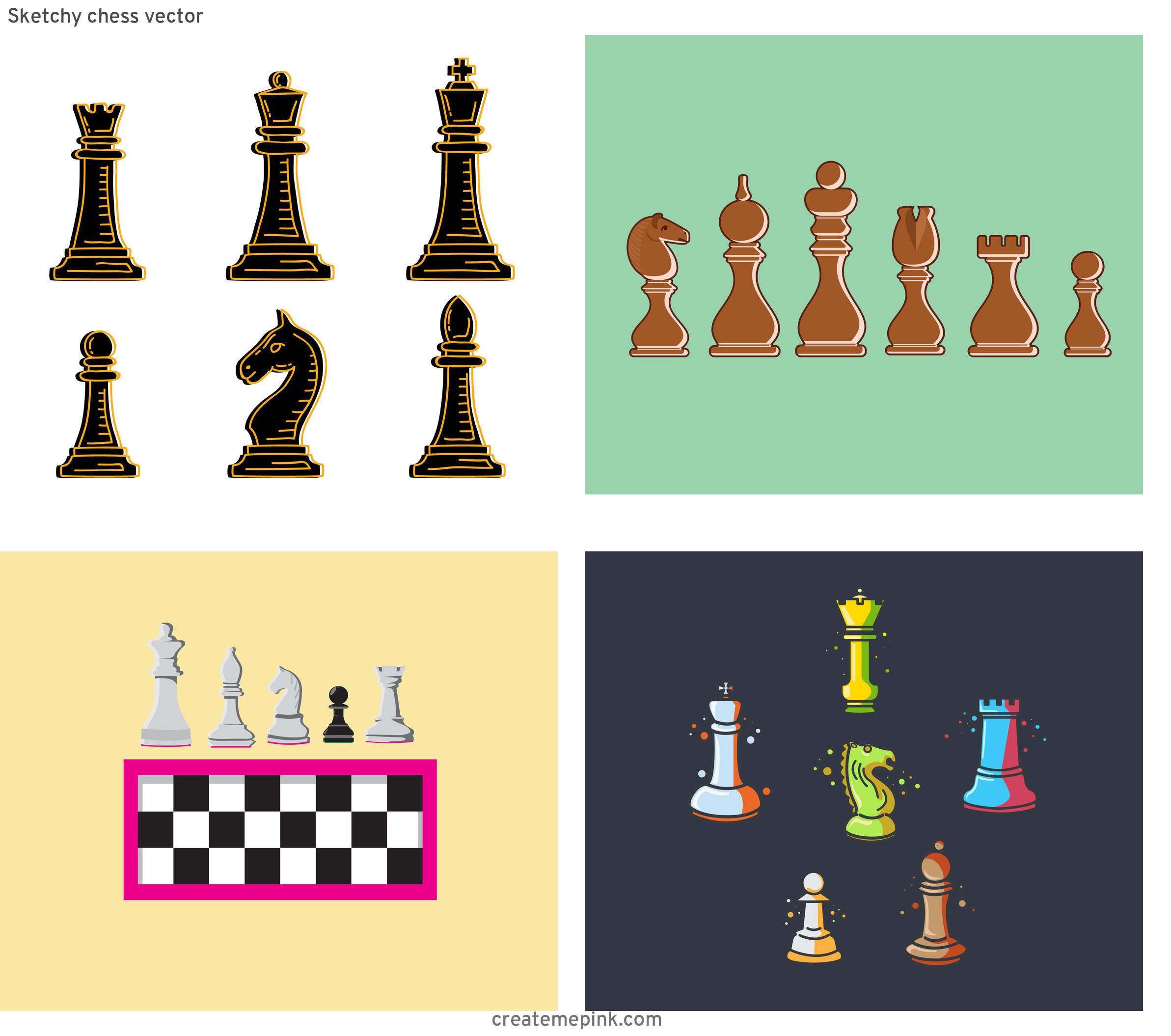 Chess Vector Graphic: Sketchy Chess Vector