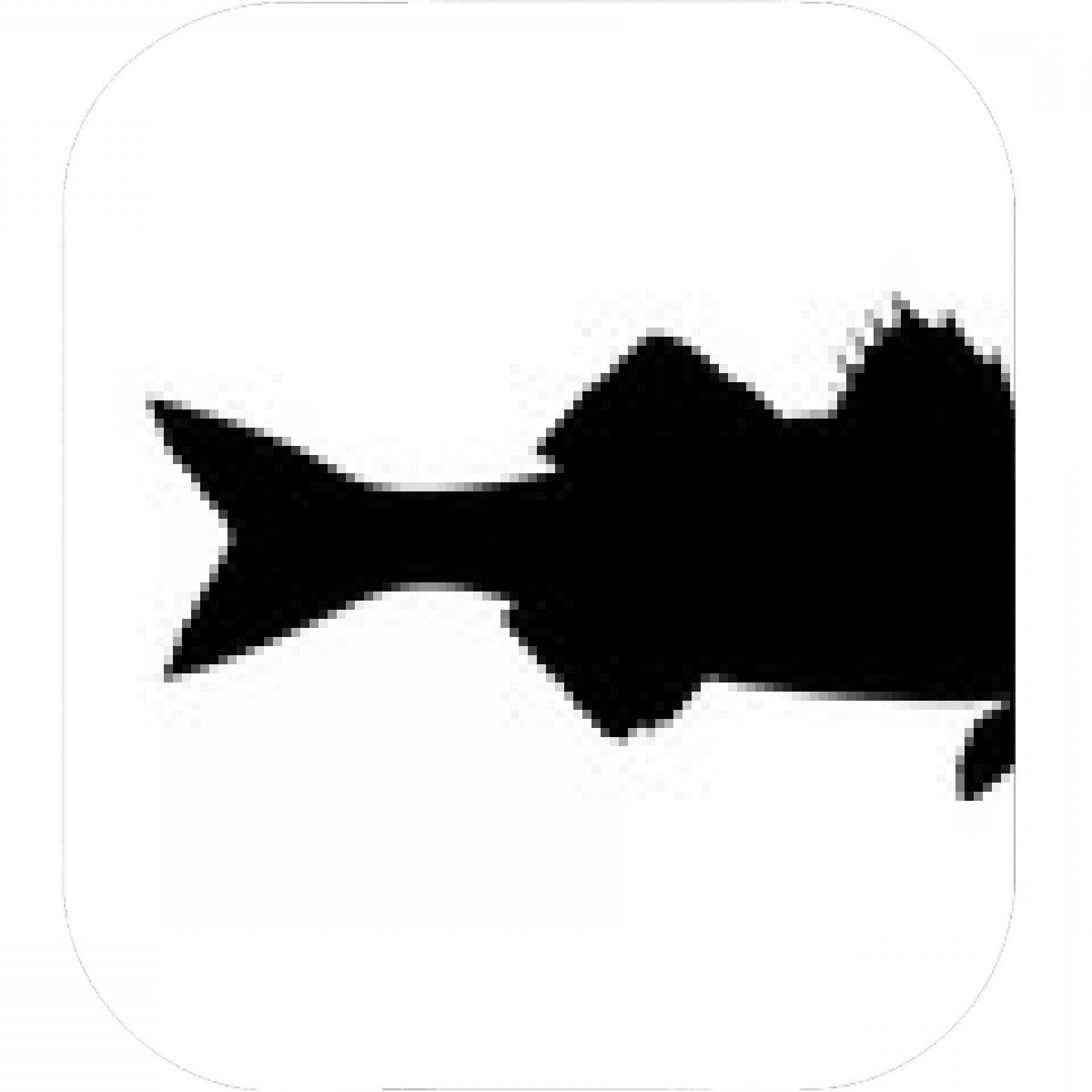 Largemouth Bass Silhouette Vector: Skipjack Tuna Silhouette Vector Illustration