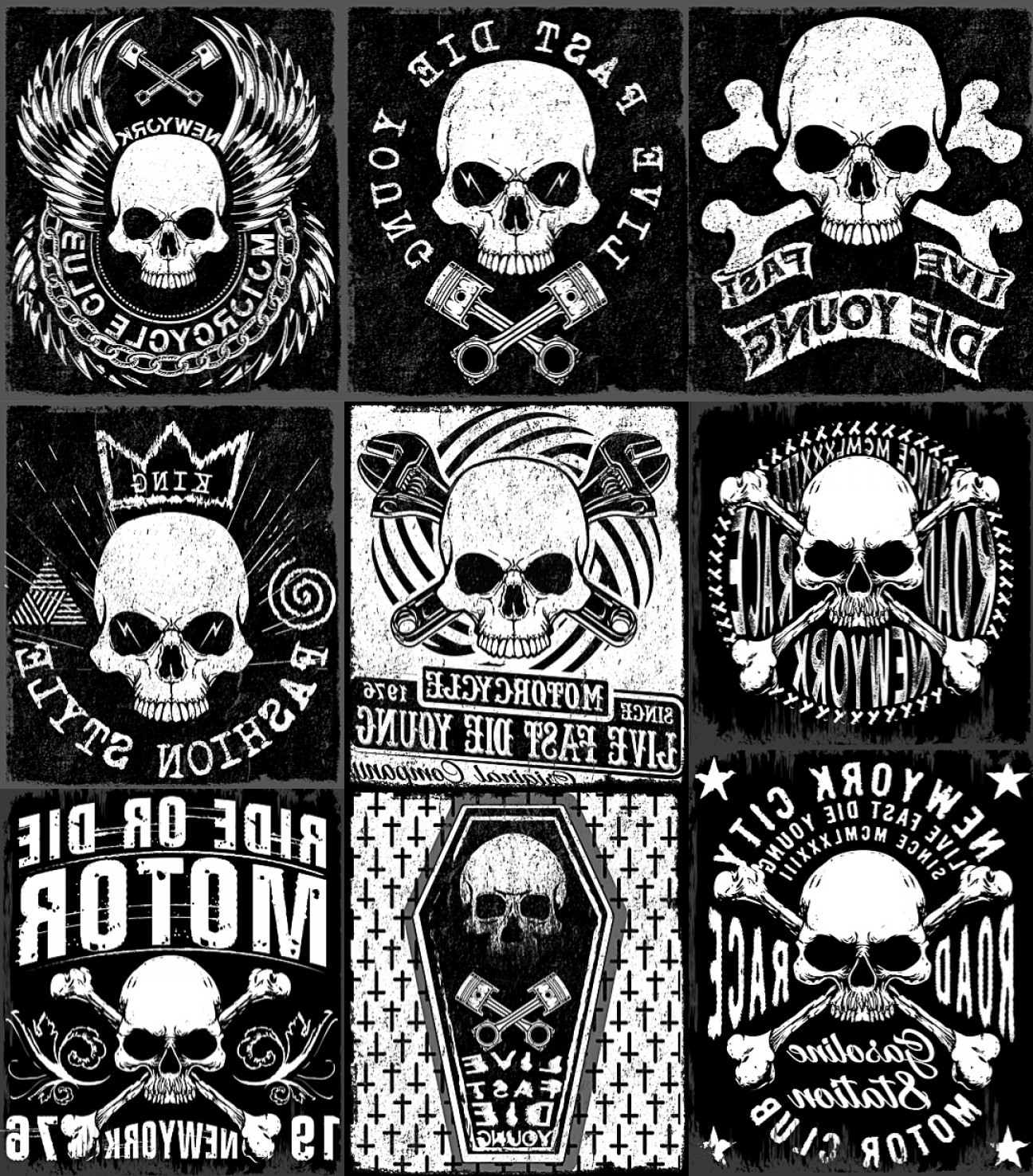 Skull Vector T-shirt Illustration: Skull Vector Templates For T Shirt Printing