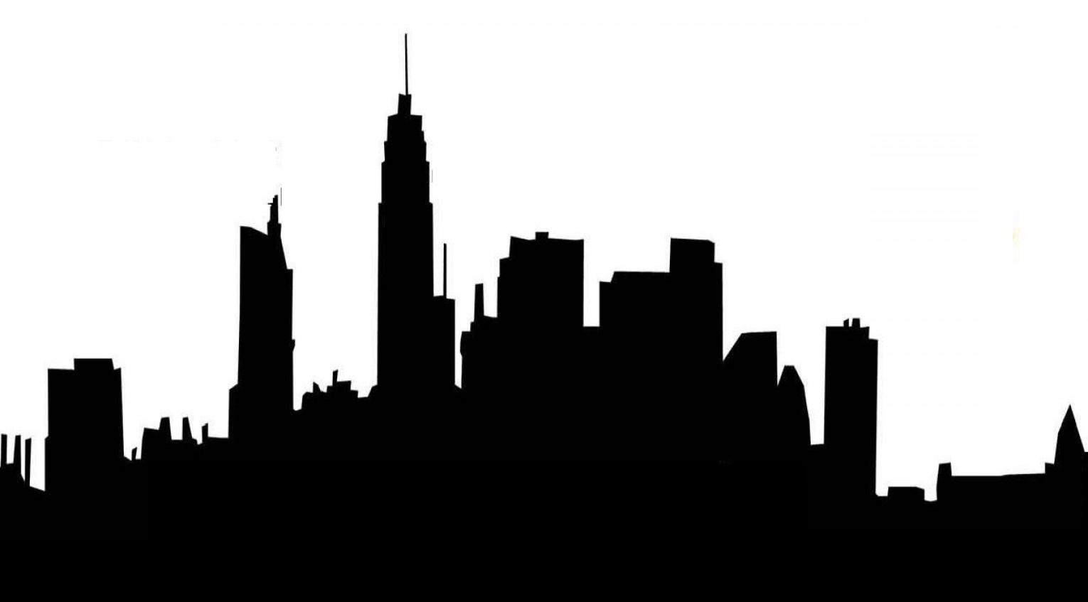 Hollywood Skyline Silhouette Vector: Skyline Silhouette Png At Getdrawings Com Free For