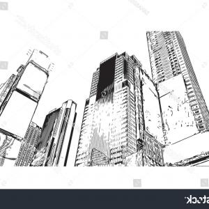 New York Times Logo White Vector: Sketch Illustration Times Square New York