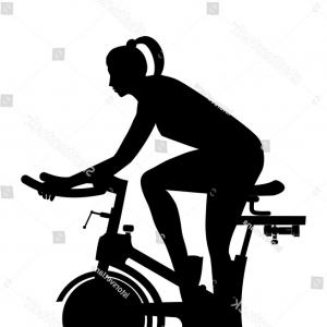 Indoor Cycling Bike Vector: Exercise Bike For Cycling Vector Clipart