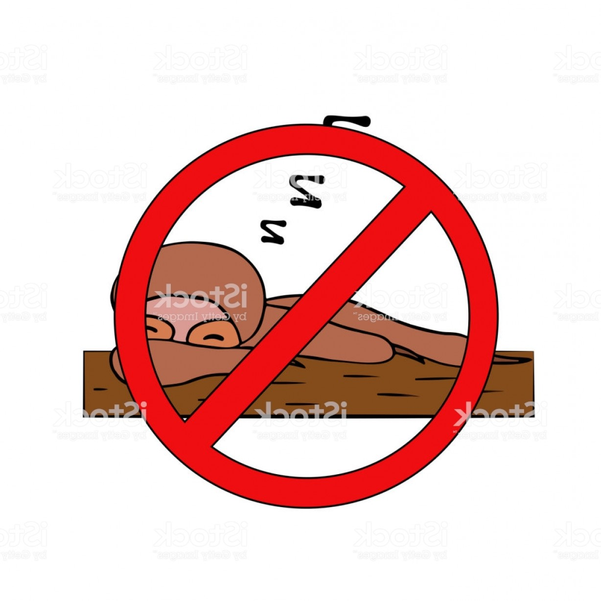 Vector No Wildlife: Sloth No Laziness Do Not Sleep Isolated Vector Illustration Gm