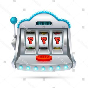 Slot Machine Vector: Slot Machine Illustration Isolated On White