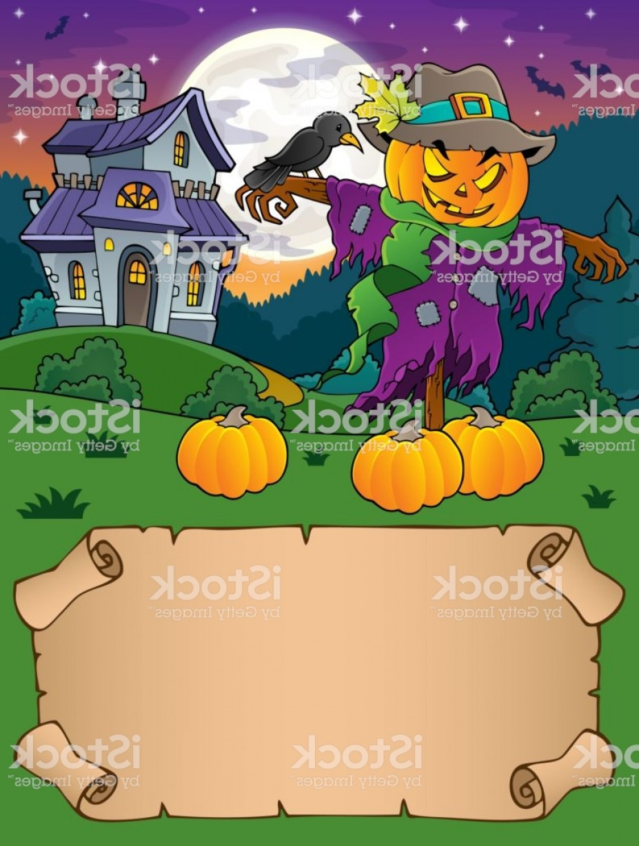 Scarecrow Vector Art: Small Parchment And Halloween Scarecrow Gm