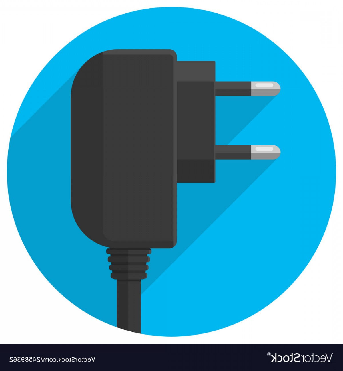 Vector Smart Charger: Smart Phone Charger Plug Icon Vector