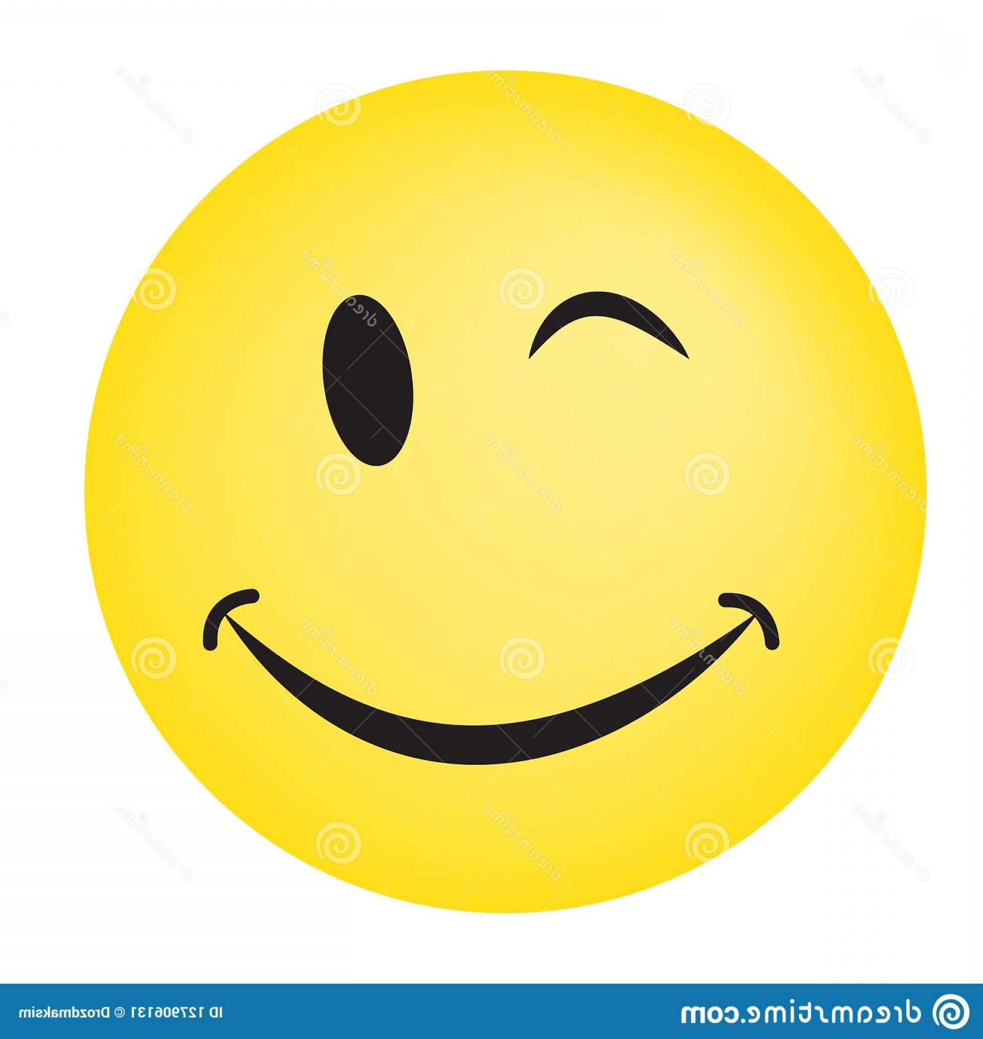 Excited Face Emoji Vector: Smiley Vector Happy Face Illustration Image