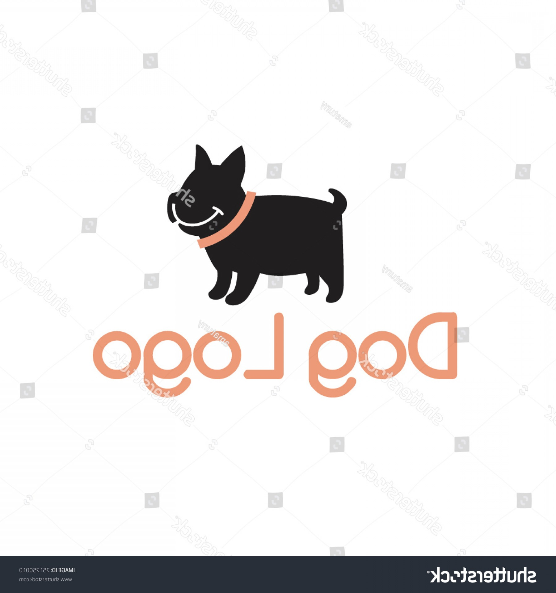 Vector Smiling Bulldog: Smiling Bulldog Abstract Dog Logo Design
