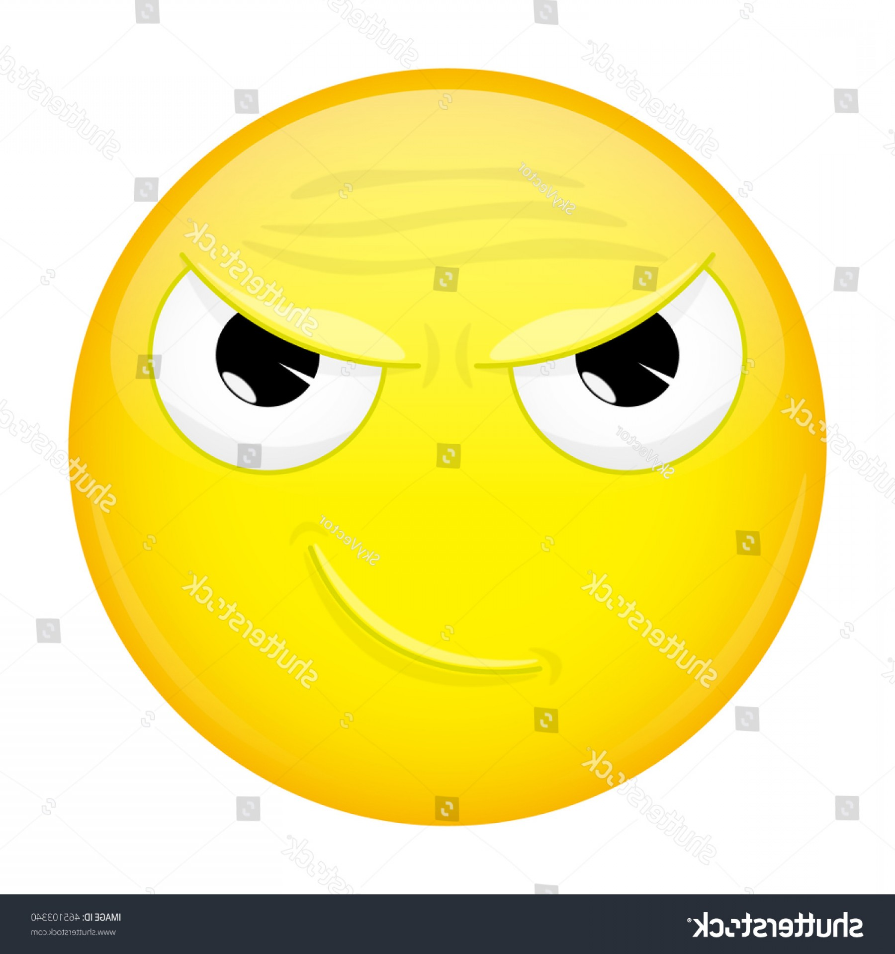 Rainbow Face Emoji Vector: Smirk Emoji Sly Emotion Smiling Emoticon