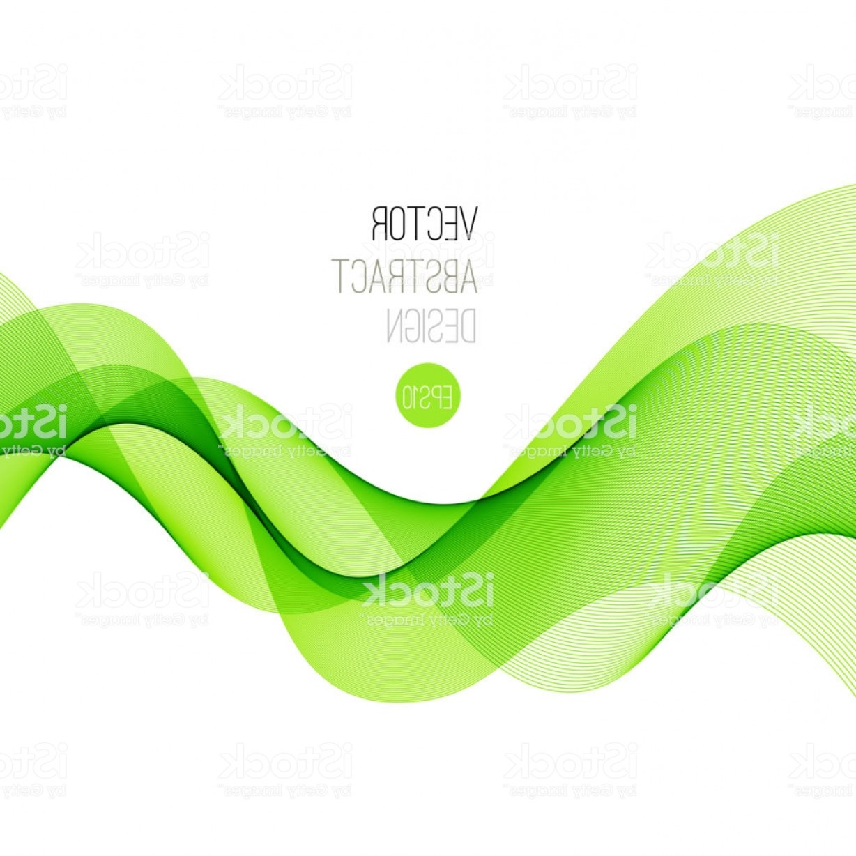Vector Smooth Green: Smooth Wave Stream Line Abstract Header Layout Vector Illustration Gm