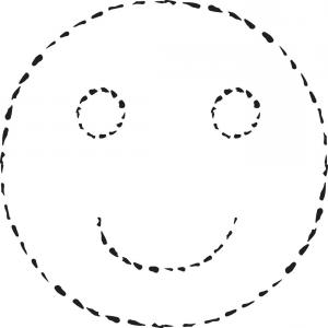 Emoji Vector Ai: Smile Face Grunge Icon Symbol Emoji Vector