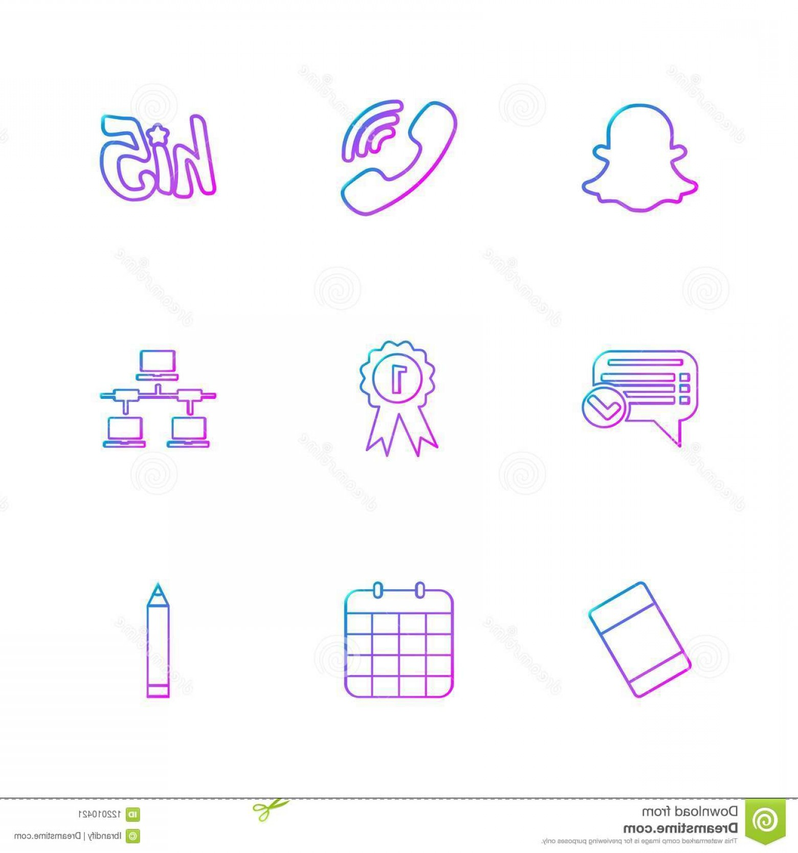 Pencil Icon Vectors Social Media: Snapchat Viber Hi Message Badge Network Eraser Cel Snapchat Viber Hi Message Badge Network Eraser Celender Pencil Icons Flat Icon Image