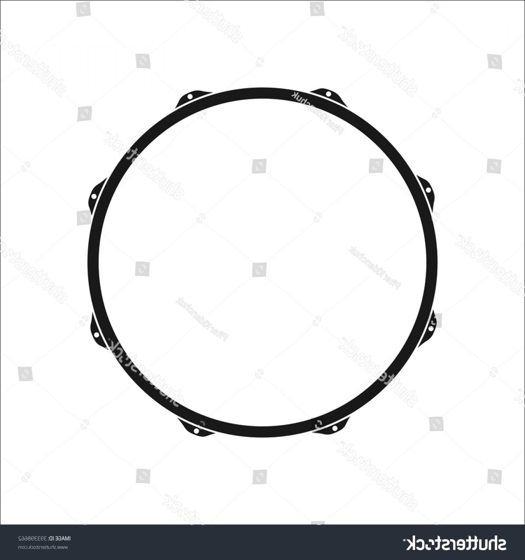 Kick Drum Vector: Snare Drum Simple Icon On Colorful