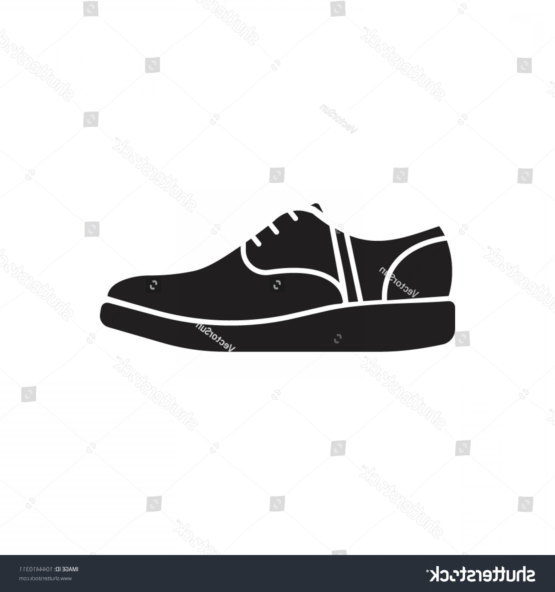 Sneaker Silhouette Vector: Sneaker Icon Silhouette Illustration Vector Web