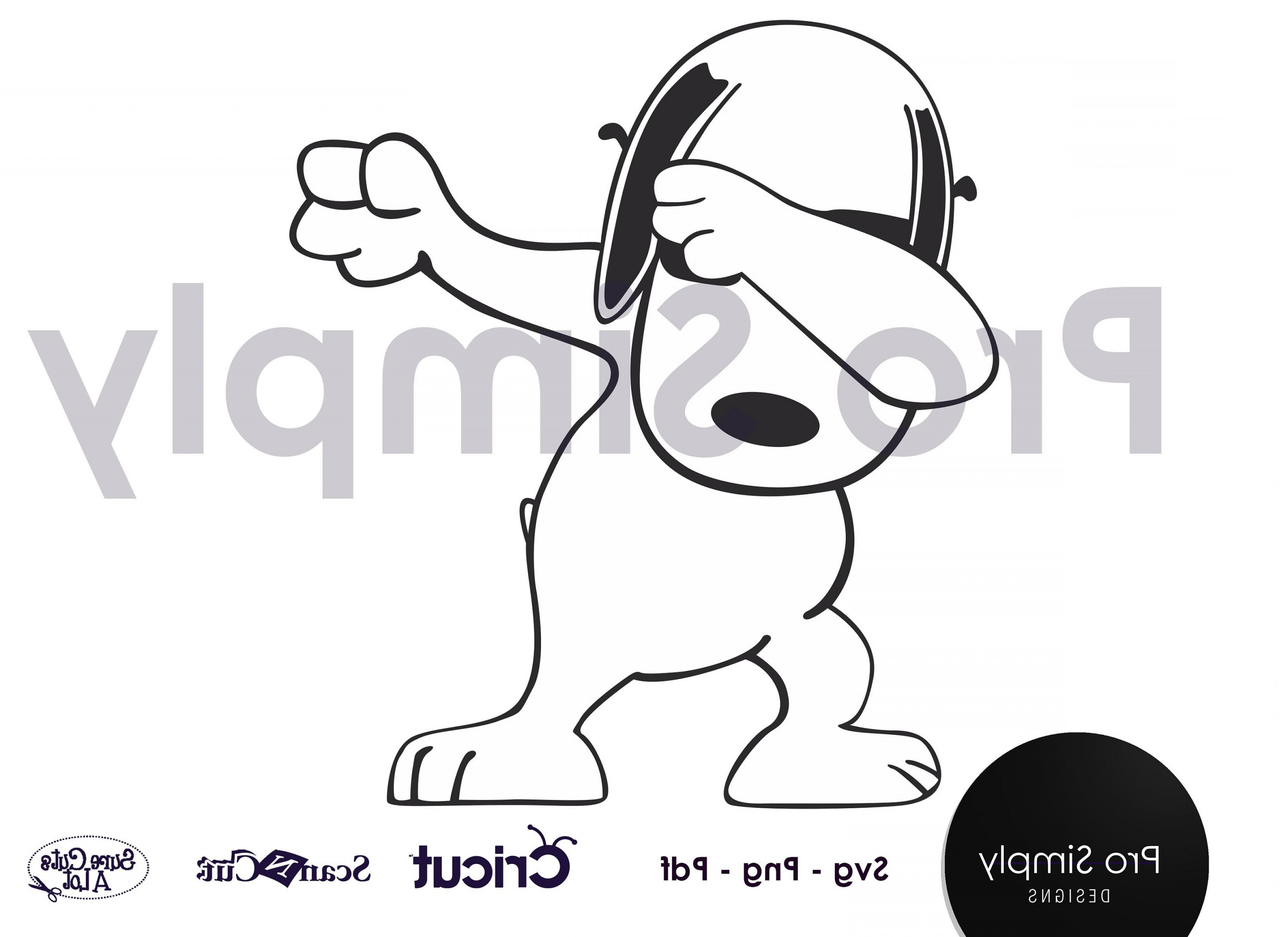Snoopy Vector Graphic: Snoopy Dabbing Svg Png Pdf File T Shirt