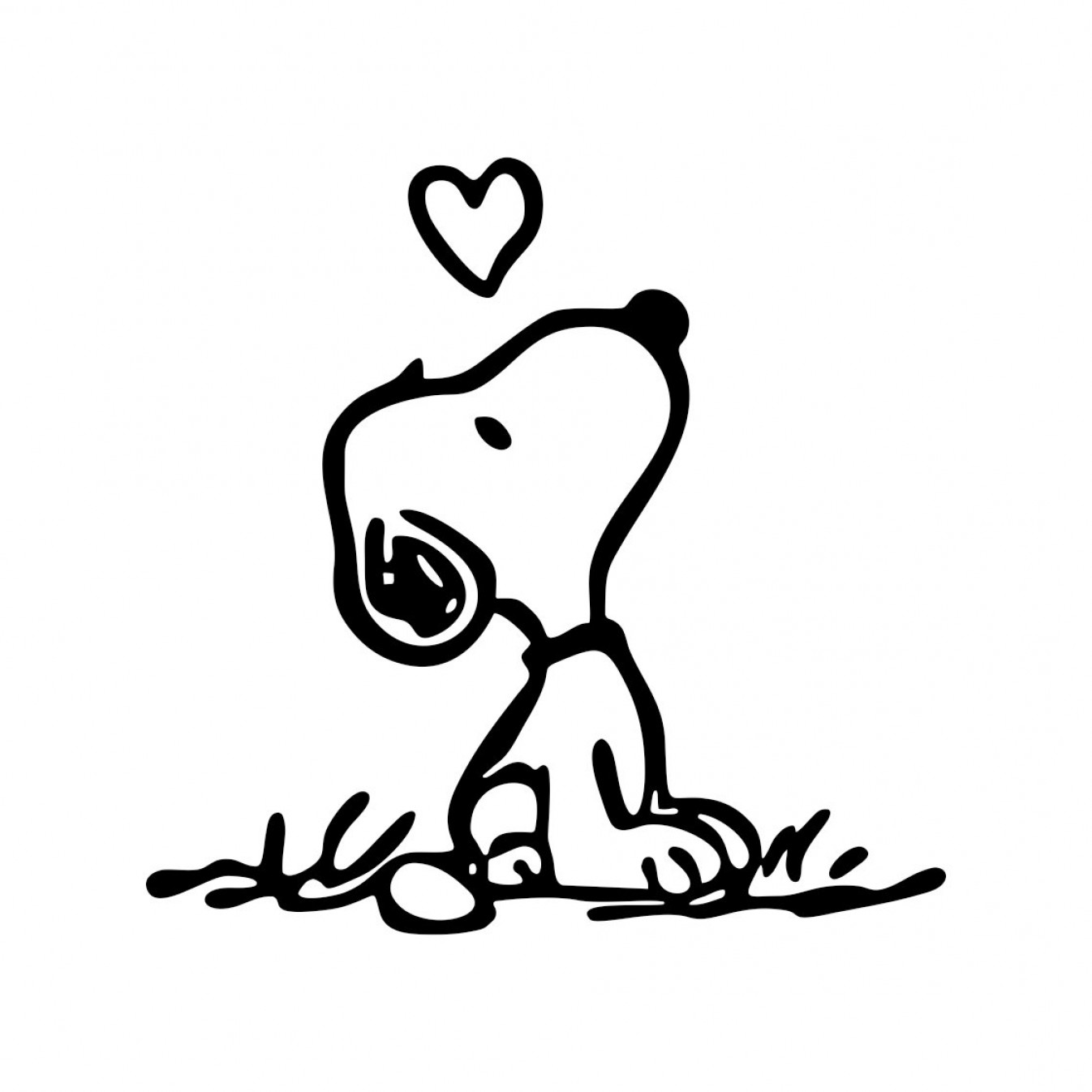 Snoopy Vector Graphic: Snoopy Love Graphics Design Svg Dxf Eps Png Cdr Ai Pdf Vector Art Clipart Instant Download Digital Cut Print Files T Shirt Vinyl Decal