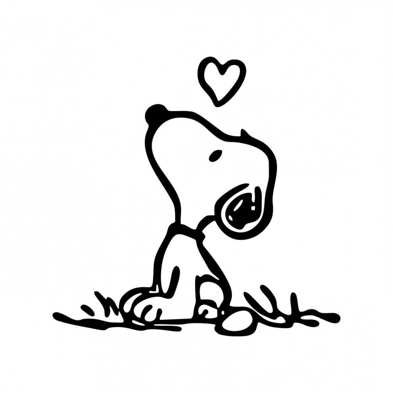 Snoopy Vector Graphic: Snoopy Love Graphics Svg Dxf Eps Png Cdr