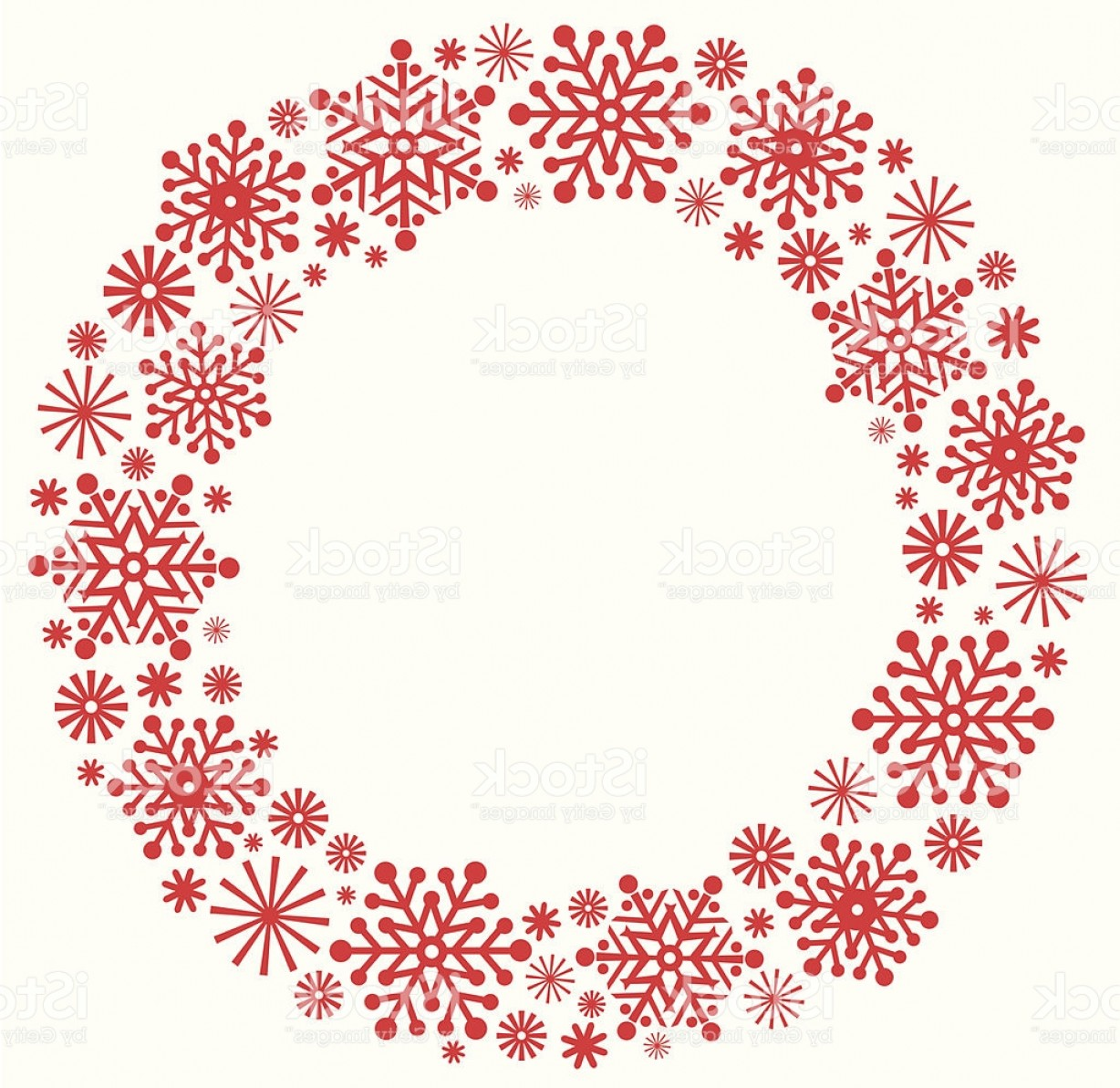 Vector Snowflake Wreath: Snowflake Christmas Wreath In Silhouette Gm