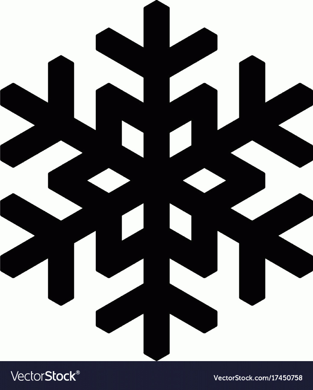 Simple Black Vector Snowflake: Snowflake Icon Christmas And Winter Theme Simple Vector