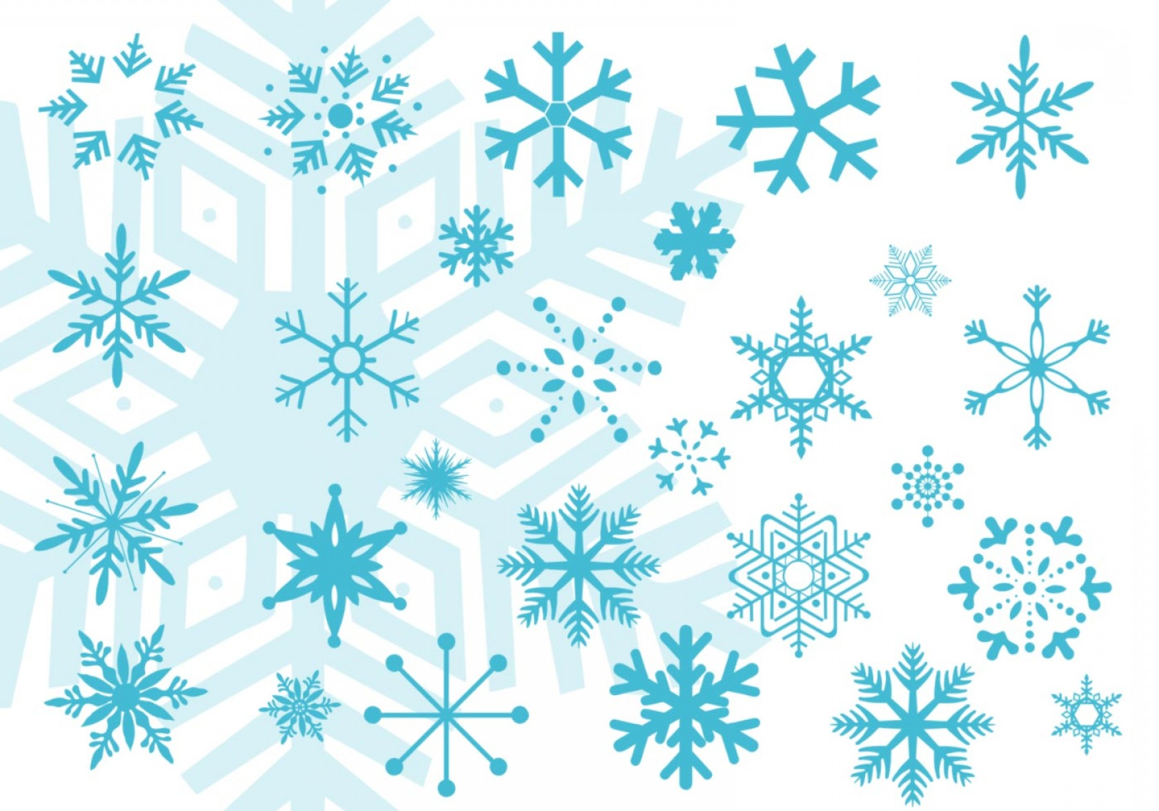 Pixelation Photoshop Vector: Snowflake Vector Brushes For Photoshop