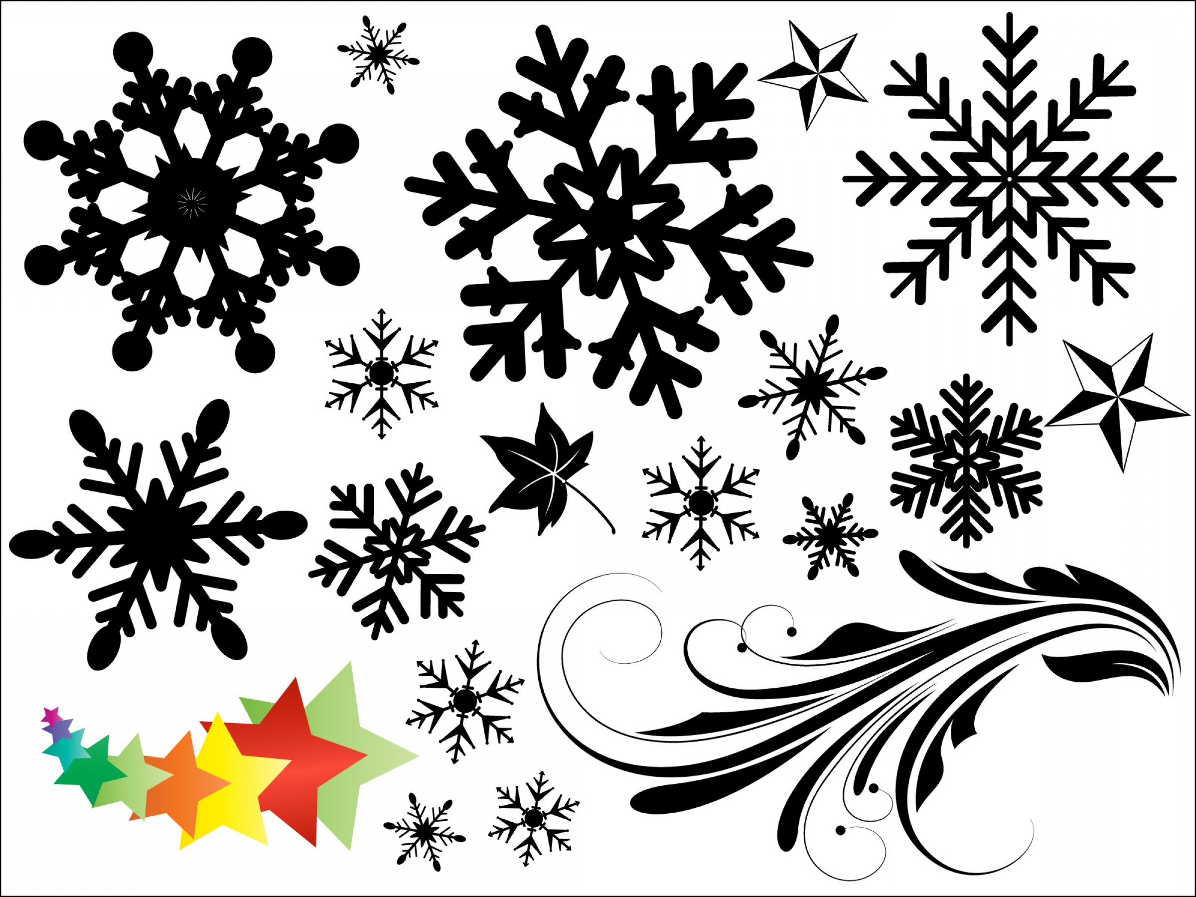 Vector In Photoshop CS5: Snowflakes Vectors Brushes Shapes Png Pictures