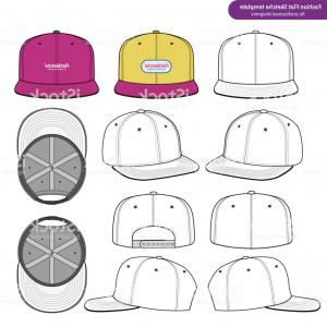 Snapback Vector: Snapback Fashion Flat Technical Drawing Vector Template Gm