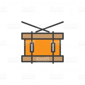 Drumline Vector Art: Snare Drum Line Icon Filled Outline Vector Sign Linear Colorful Pictogram Isolated Gm