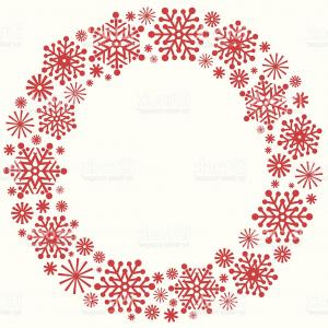 Christmas Wreath Silhouette Vector.Merry Christmas And New Year Gold Snowflake Wreath Vector