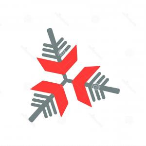 Snowflake On Red Vector: Abstract Christmas And New Year Seamless On Red Background Snowflake Pattern Vector Illustration Eps Image