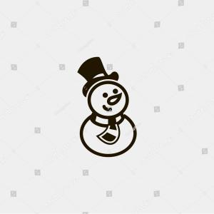 Symbol Vector Clip Art: Snowman Vector Clip Art Useful Icon