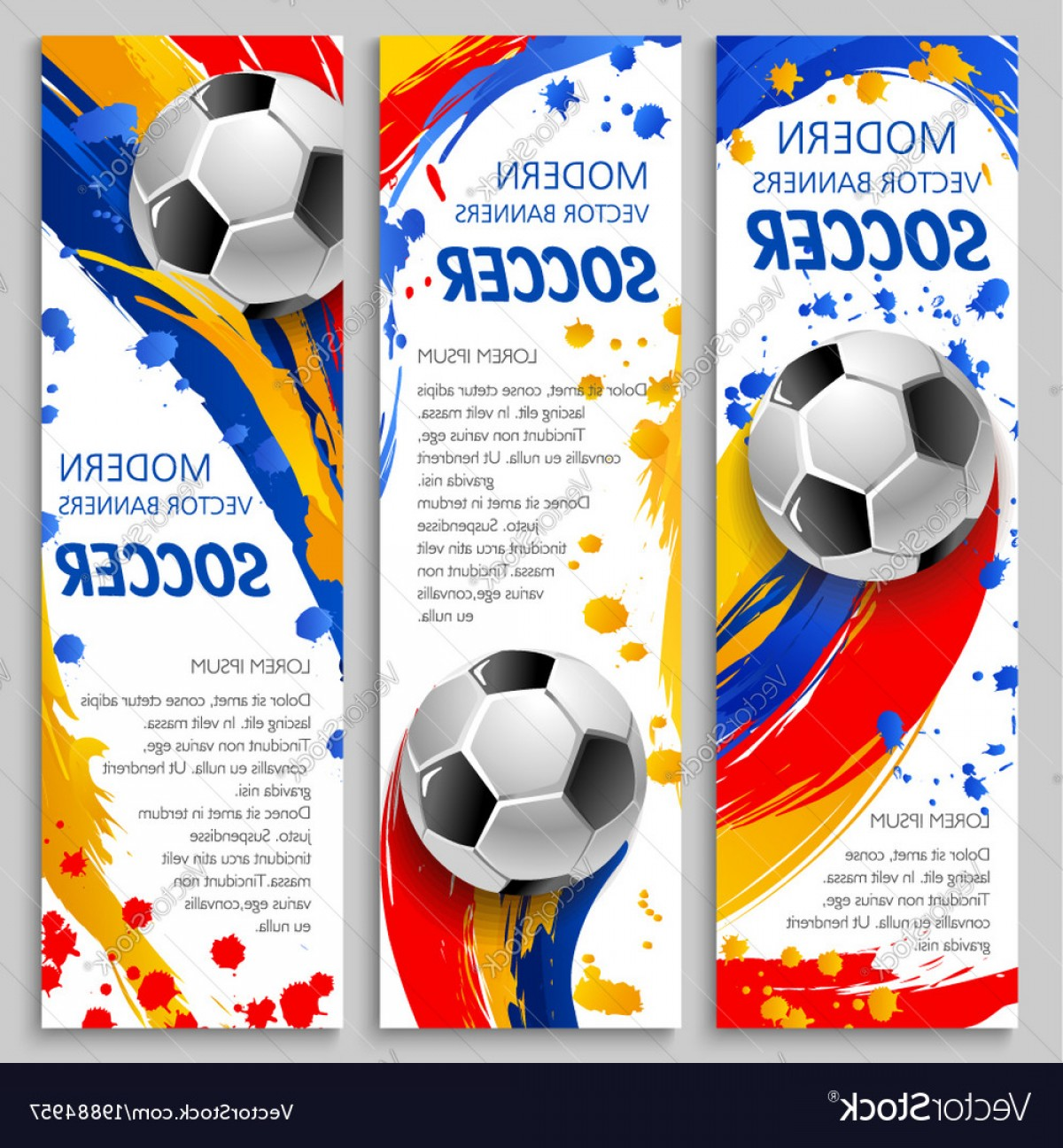 Vector Sport Spot: Soccer Ball Banner Of Football Sport Game Template Vector