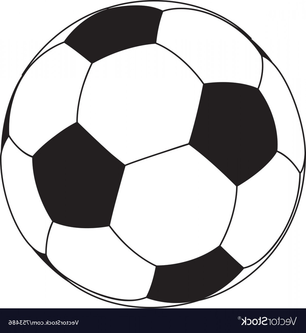 Vector Soccer Ball Pattern: Soccer Ball Isolated On White Background Vector