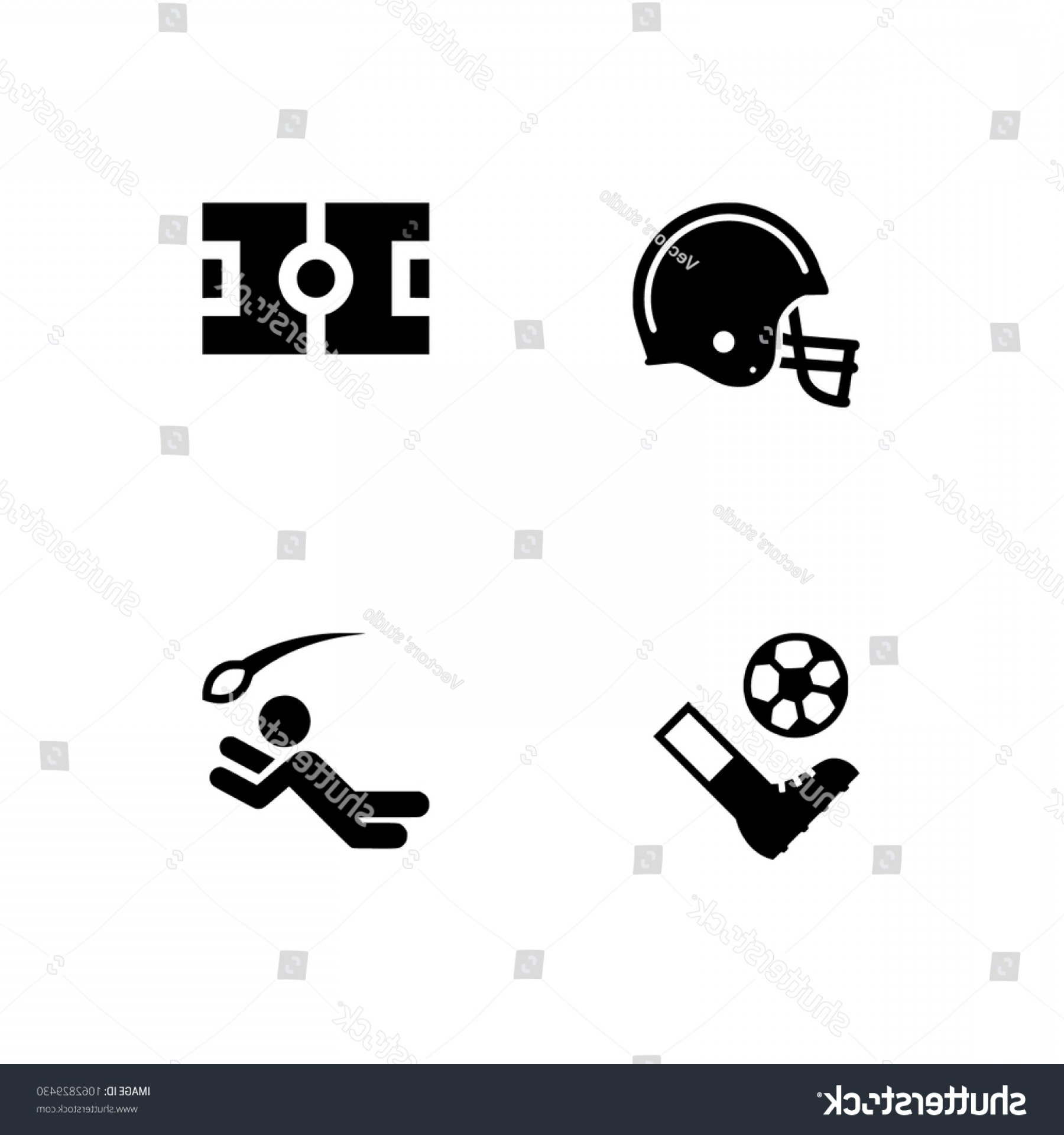 Gear Vector Icons Large: Soccer Football Icons Set Eps