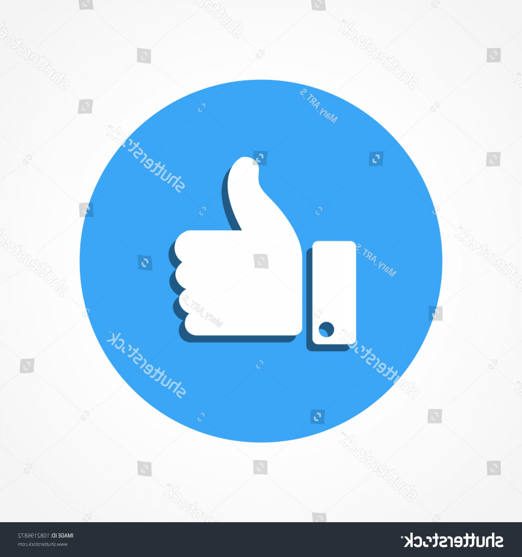 Finger Facebook Vector: Social Media Facebook Like Thumb Emoticon