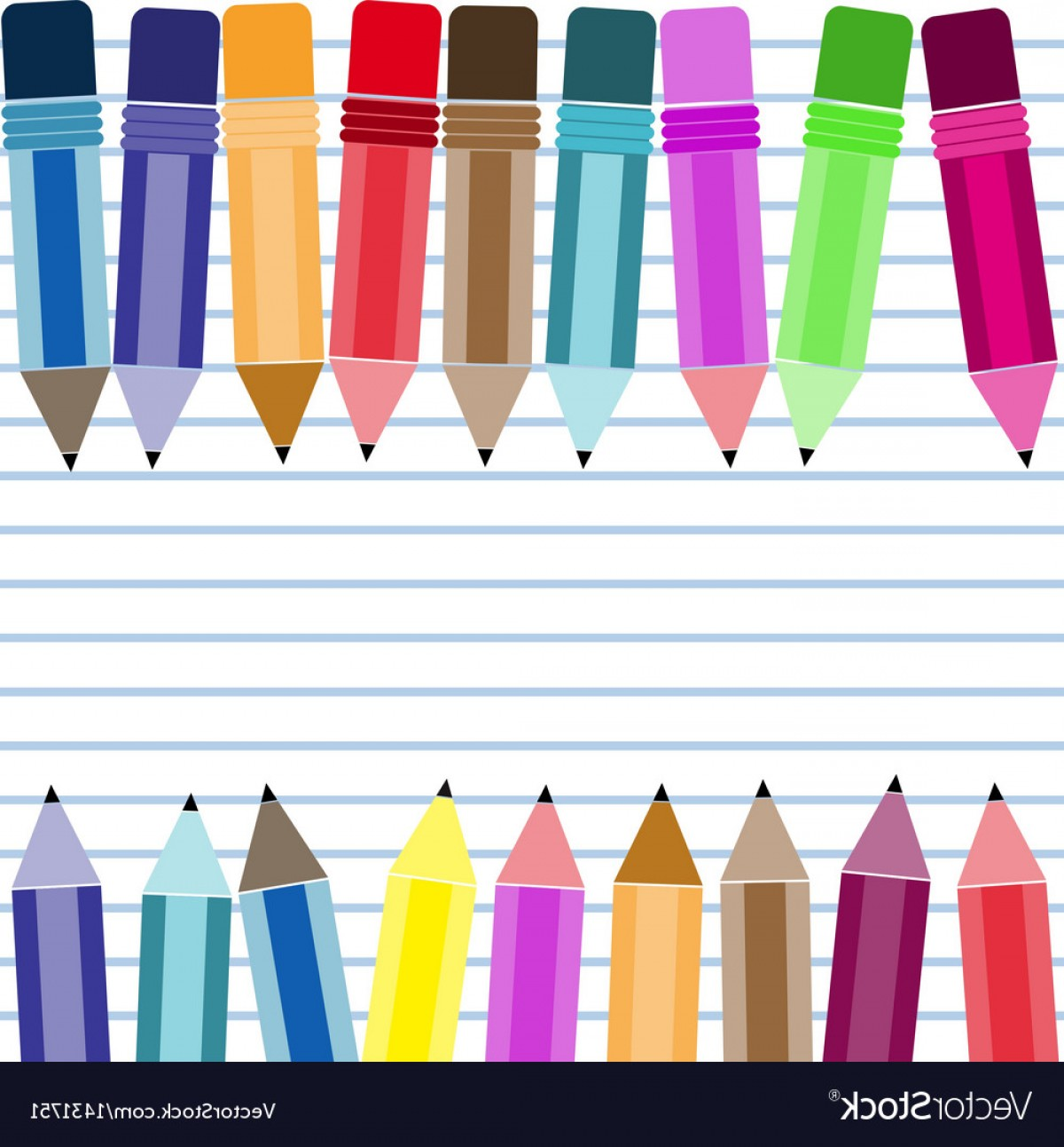 Pencil Icon Vectors Social Media: Social Network Background With Media Icons Vector
