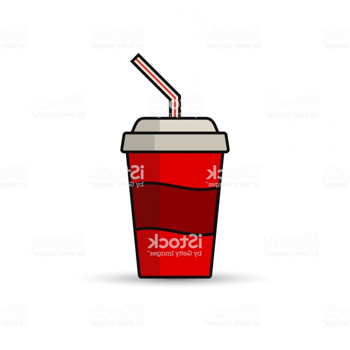 Cool Logo Icon Vector: Soda Paper Cup Icon Vector Illustration Cool Drink Icon Gm