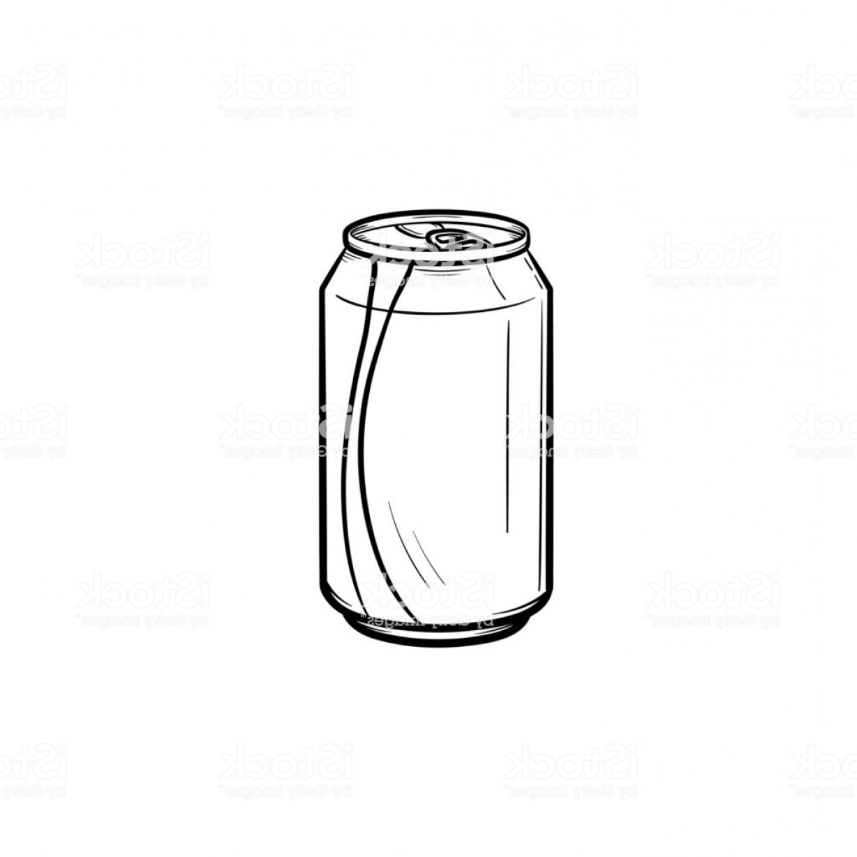 Can Vector: Soda Pop Can Hand Drawn Sketch Icon Gm