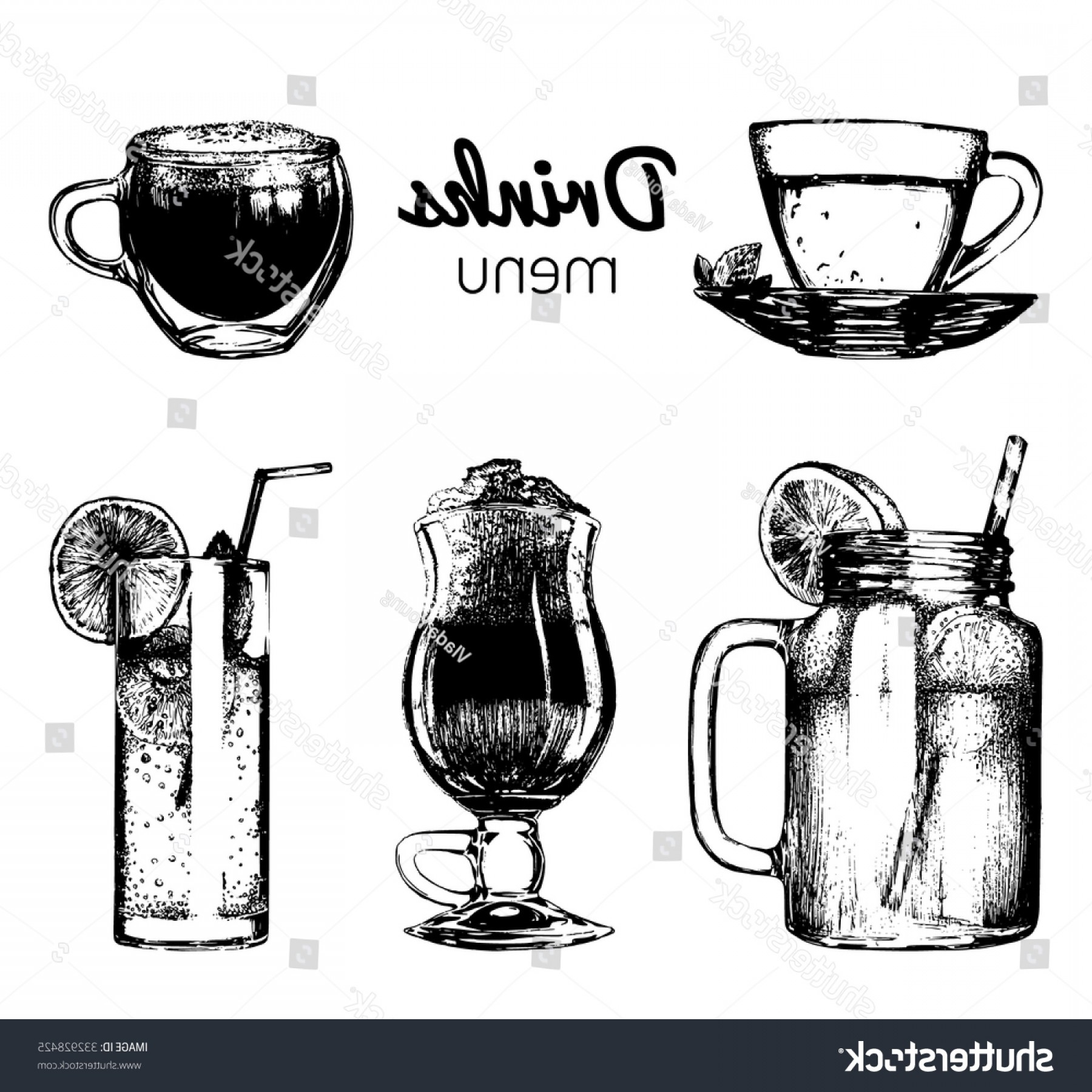 Beer Chalice Vector Logo: Soft Drinks Glasses Bar Restaurant Cafe