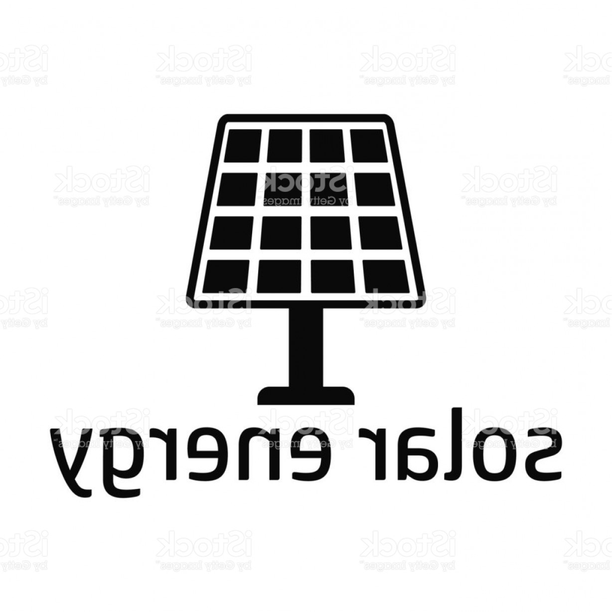 Solar Icon Vector: Solar Energy Black Icon Gm