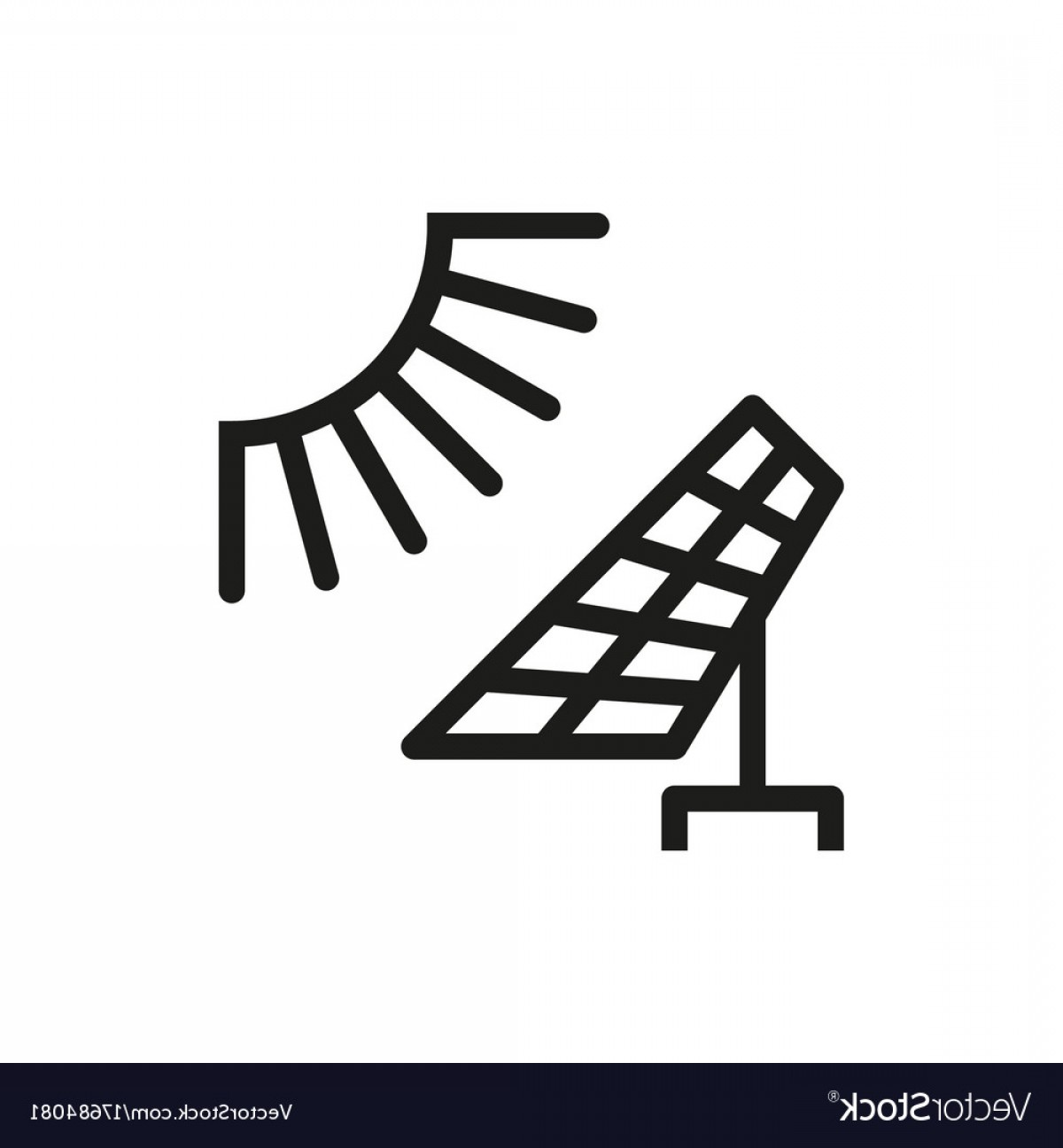 Solar Icon Vector: Solar Energy Panel Icon On White Background Vector