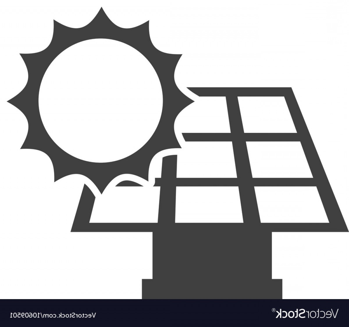 Solar Icon Vector: Solar Energy Panel With Icon Vector